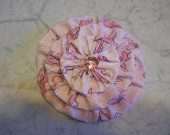 Fabric Flower Pin, Fabric Brooch,  Ballerina Fabric Hair Clip ,Hair Fashion Accessories, Flower Pin, Purse Decoration, Mothers Day Gift,