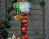 Primitive Patti's Ratties Elf Doll Ornie Christmas Stocking Pattern #383