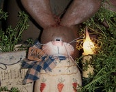 Primitive Patti's Ratties Easter Egg Spring Bunny Rabbit Doll Ornie Pattern #406