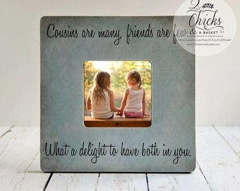Cousins Are Many Friends Are Few Picture Frame, Gift For Cousin, Cousin Picture Frame, Cousin Gift Idea