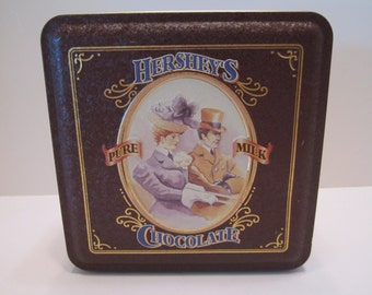 Vintage Hershey Chocolate Candy Tin - Collectible Hershey Candy Tin - NEAR MINT - MINT