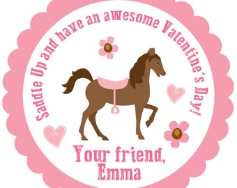 Horse Valentineu0027s Day Stickers    Horse Valentines Day Stickers     Horseback Riding Valentine Sticker