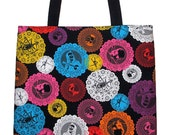 Day of the Dead Mexican Folk Art Papel Picado Carryall Tote Bag - 20% off Shop Closing Sale