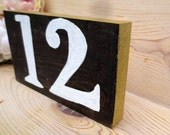 Hand Painted Table Numbers, Custom Colors, Calligraphy