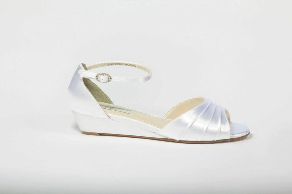 SALE Wedding Shoes Wedge Wedding Shoes Wedges Low Heels