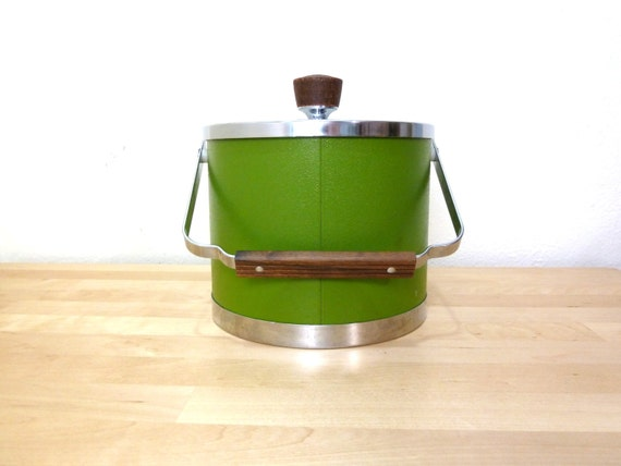 Vintage Green Ice Bucket Kromex Ice Bucket By