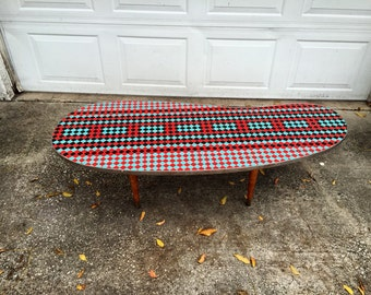 Mid Century Tile Top Table