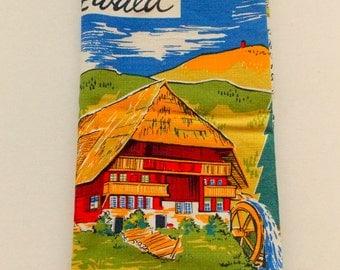 Vintage German Linen Tea Towel