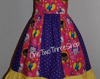 Custom Boutique Clothing Doc McStuffins Flutter sleeve Jumper Dress