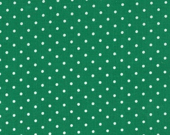 Pinhead dots in spear green by Michael Miller half yard increments