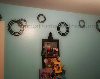 Circles/Flowers/Wheels of various sizes - Vinyl Wall Art, Graphics, Lettering, Decals, Stickers