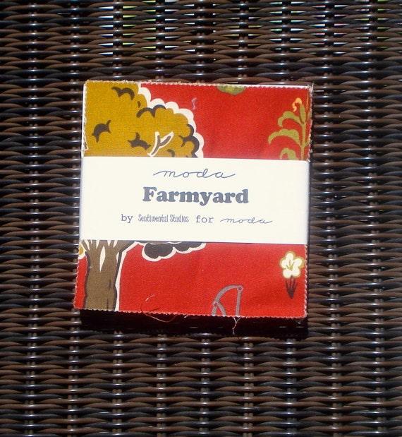 SALE : Farmyard Charm Pack moda fabrics