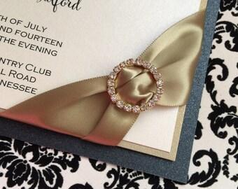 Elegant Rhinestone Wedding Invitation