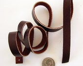 Chocolate Brown Leather Strips