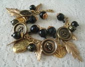 Medieval Charm Bracelet, medieval jewelry renaissance jewelry gothic jewelry victorian jewelry steampunk cosplay edwardian neo victorian