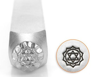 Heart Chakra Metal Design Stamp ImpressArt- 6mm  Design Stamp-Steel Stamps