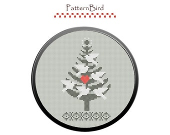 Christmas tree II. Instant Download PDF Cross Stitch Pattern