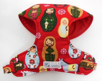 Christmas Nesting Doll Comfort Soft Dog Harness - Made to order -