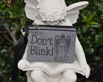 Weeping Angel Doctor Who Inspired Wallet Wristlet
