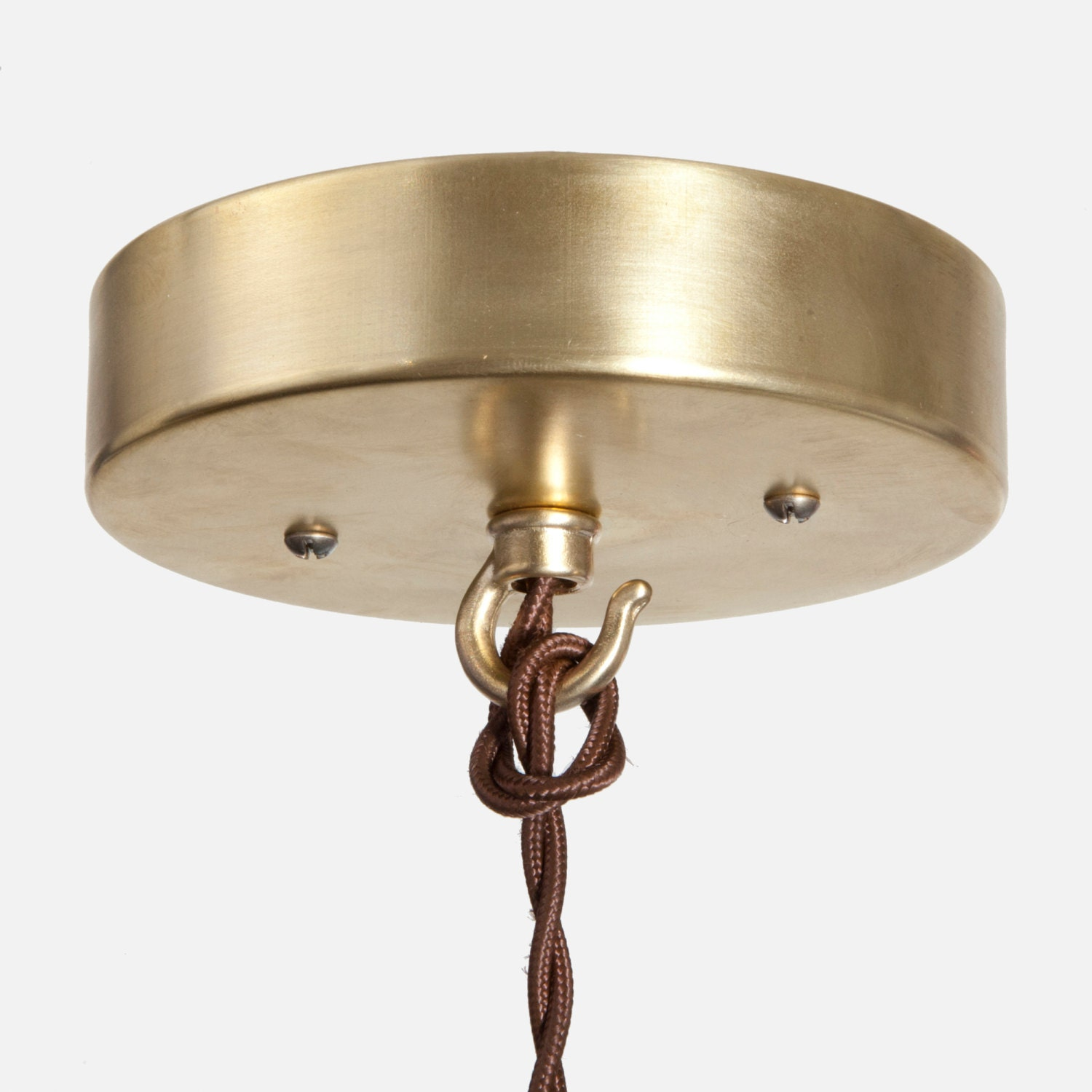 Ceiling Canopy Kit Raw Brass Hook Pendant Light Ceiling Box