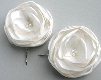 Ivory Bridal Hair Pieces, Ivory Wedding Hair Piece, Flower Hair pins, Bridal headpieces, Off White Flower Hair Clip, Bridesmaid Hairpiece
