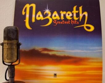 "ON SALE Nazareth Vintage Vinyl LP Record Album 1970s Classic Rock and Roll Scotland Scottish Hard Rock Music ""Greatest Hits""(1976 A&M w/""Lov"