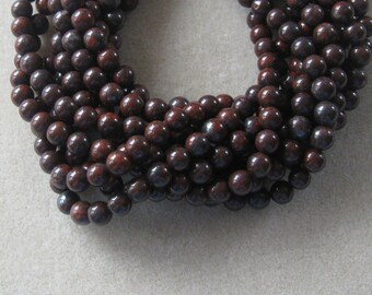 Poppy Jasper Round Beads, Gemstone Beads, Semi Precious, Bead Supplies, Craft Supplies, Jewelry Making Beads, Jasper Beads