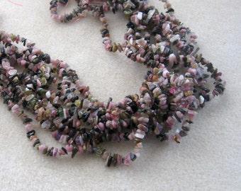 Multi Color Tourmaline Mini Chip Beads , Tourmaline Beads, Gemstone Beads, Semi Precious, Beads for Jewelry Making, Craft Supplies