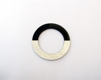 Modern Black Bangle-Black Resin Bangle-Geometric Resin Bangle-Resin Jewellery-Modern Jewelry-Minimalist Jewelry