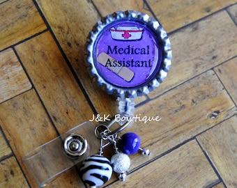 Medical Assistant - retractable badge reel