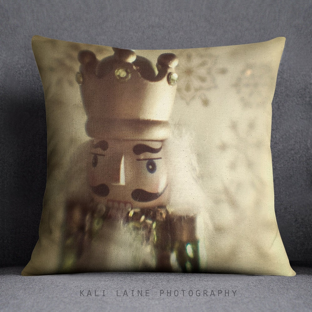 Decorative King Pillow Cases : NUTCRACKER KING GOLD Decorative Throw Pillow Case Nutcracker