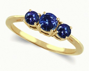 tanzanite ring  14k yellow gold