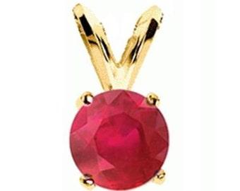 ruby pendant 14k yellow gold