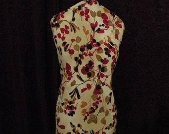 Lycra Spandex Rust Burgundy, Beige, Black Jersey Fabric