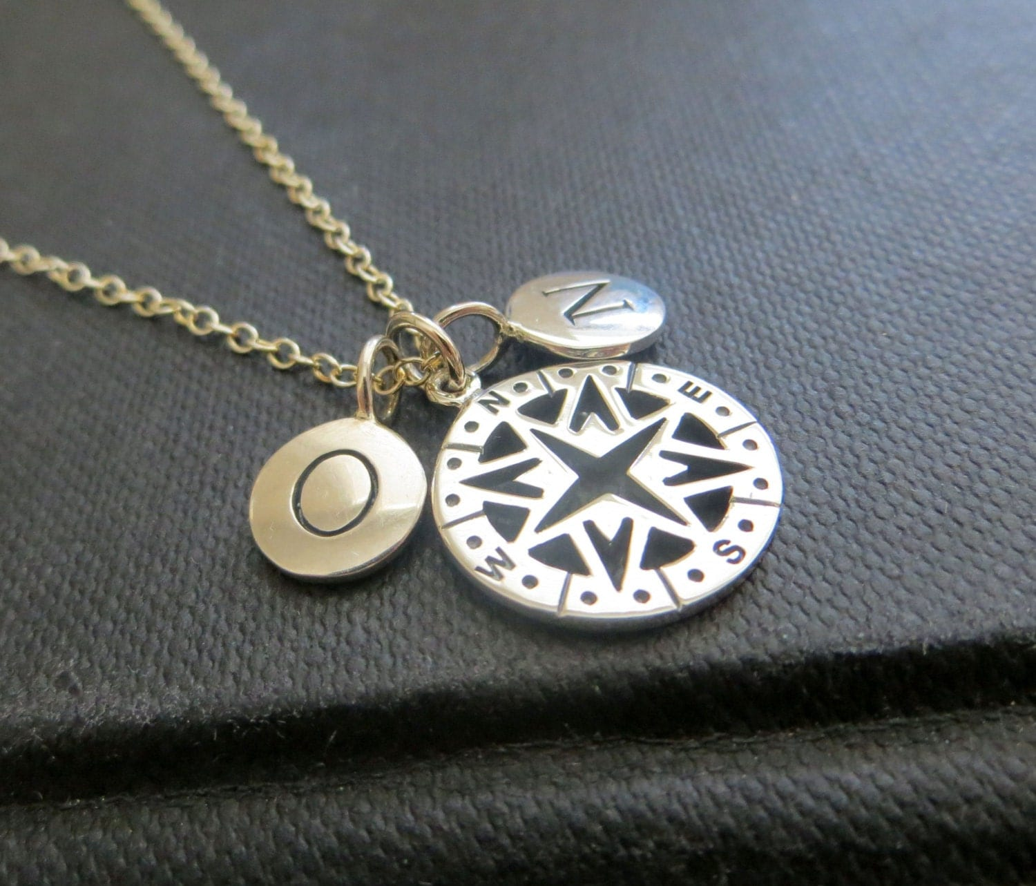 personalized compass necklace best friends gift wanderlust