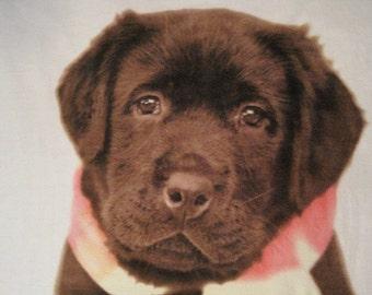 Labrador Puppy Handmade Fleece Blanket - Ready to Ship Now
