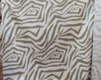 ZEBRA IKAT SAND  designer home decor fabric -