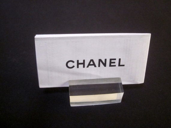 Lucite desk business card or place card holder or sign for Lucite business card holder