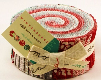Winterberry  Moda Quilt Fabric  Jelly Roll 40 strips 2.5 x 44