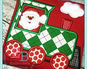Santa Train Appliqué Christmas Shirt - Personalized Embroidery