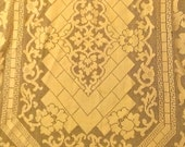 Vintage Antique Lace Tablecloth Lattice Grecian Key Design 64 x 56