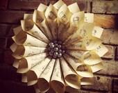 Handmade Vintage Sheet Music Paper Wreath Christmas Decoration