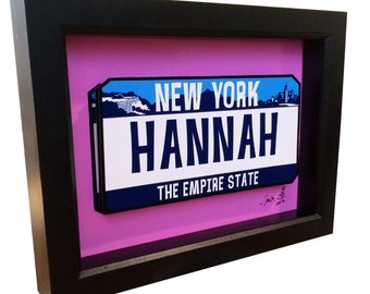 Personalized Name License Plate 3D Pop Art