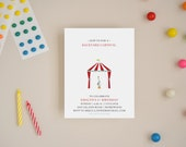 Birthday Invitation - Backyard Carnival - Choose Your Colors