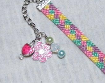 SUMMER SALE!!! Free Shipping or Save 20% ~ Springtime embellished knotted friendship bracelet ~ Ready to Ship