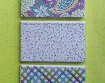 Set of 3 Lavender Blank Recipe books