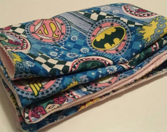 Super Hero Girl Baby Blanket