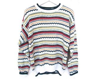 90's Jacquard Sweater size - S/M