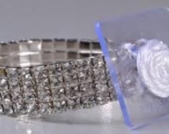 Corsage Bracelet - Dainty Flower Bracelet  - Dazzle - Small