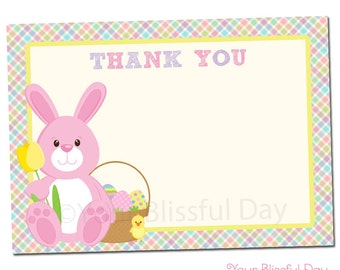 PRINTABLE Easter Bunny Egg Hunt Thank You Cards (Character of your choice) #411